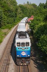VRE Sounder train at Backlick Road (Michael Karlik) Tags: railroad station train virginia platform railway transit sound commuter springfield express passenger sounder vre f59phi