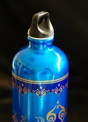 Week 13: Blue / Sunlight on a water bottle (Niki Gunn) Tags: blue pentax april sigg waterbottle lightbox k5 2016 77mm fa77 smcpfa77mmf18 fa7718limited smcpentaxfa77mmf18limited 52project2016