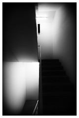 Stairs. (Daniel S. Thomas) Tags: blackandwhite architecture composition sony highcontrast ilce7rm2