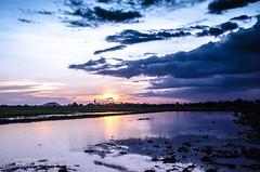 Siem Reap Country Sunset (JamieMarie Oaksford) Tags: reflection clouds rural landscape nikon asia cambodia seasia cambodiasunset nikond7000