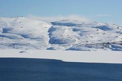 Blue and White (evenharbo) Tags: blue sky mountain lake snow ice nature norway norge spring nikon sirdal vestagder nikond7100