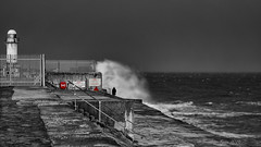 Read The Signs!_4260073 (www.jonathan-Irwin-photography.com) Tags: people signs storm danger pier high waves gare south large olympus seas redcar omde5mk11