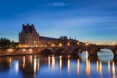 Pavillon de Flore & Pont Royal, Paris (www.fromentinjulien.fr) Tags: world street city longexposure light urban paris france art history monument seine architecture digital photoshop sunrise canon reflections french effects photography eos town photo europe exposure flickr raw cityscape photographer view shot louvre capital full frame manual capitale fullframe dslr ff dri hdr ville parisian francais citt blending lightroom 6d photographe effets 1635 2015 parisien 1635mm pontroyal photomatix fromentin fromus colocacin cuida traitements ecoledulouvre fromus75 fromentinjulien canon1635mmf4 canonef1635mmf4l
