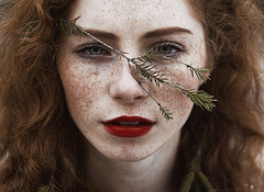 Maria (alexandra_bochkareva) Tags: portrait cute art girl face female fire ginger place sensual fairy serene freckles feelings freckled sense girlish