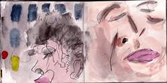sie waren zusammen geblieben, all die Jahre. Es waren schwierige Jahre. Seit diesem Jahr war es nicht mehr schwierig und seit dem Frhjahr hatten sie sich verlassen (raumoberbayern) Tags: summer bus pencil subway munich mnchen sketch drawing sommer tram sketchbook heat ubahn draw bleistift robbbilder skizzenbuch zeichung
