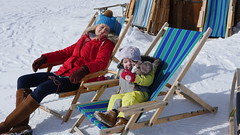 Chillaxing (Madleeeen) Tags: family winter snow ski cold austria skiing hats sunny amelie grandparents kaiser wilder sledge sledging
