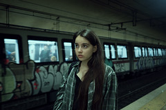 SubUrbia (Simo_za) Tags: street portrait people urban italy rome roma film girl station underground subway italia tube olympus portraiture visual cinematic ritratto mirrorless visualphotography portraitphotographylovers theportraits