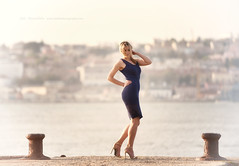 in form action (Jose Antonio Pascoalinho) Tags: people woman beauty fashion female pose model glamour dress riverside modeling outdoor feminine femme grace sensual blonde heels natalia sensuality humanfigure zedith