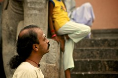 2608: Bala in Thought (Atul Sabnis) Tags: friends temple tiruvannamalai annamalaiyar