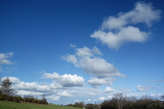 Cotton Wool Clouds (Dave Roberts3) Tags: weather wales landscape fort hill newport gwent transporterbridge coth gaer