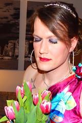 Spring (Rikky_Satin) Tags: hot sexy floral highheels dress sweet silk crossdressing tgirl transgender prom sissy transvestite satin crossdresser