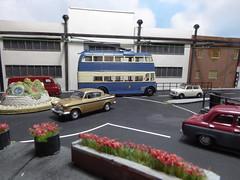 Bradford City Transport Trolleybus 803. (ManOfYorkshire) Tags: city cars ford scale austin bradford transport models mini oxford diorama 803 humber trolleybus 1963 bct diecast weymann 176 oogauge