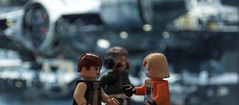 May the force be with you (Manel Anton) Tags: starwars hangar millenium falcon lukeskywalker pilot legostarwars hansolo starwarslego episodeiv awing legophotography legography