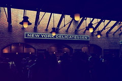 Crowded Deli (tororo_i08) Tags: disneysea light japan vintage restaurant tokyo bricks crowd olympus disney tiles chiba frame deli omd urayasu em5markii summilux15mmf17
