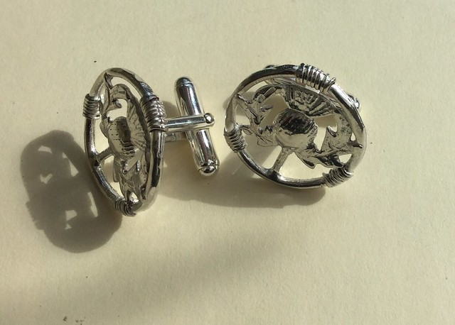 Stephen Sheana 'Thistle Cufflinks'