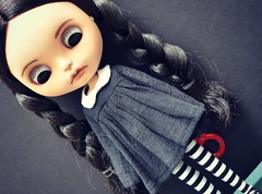Wednesday on Wednesday. (Lawdeda ) Tags: by wednesday fun this doll inspired days more ugh week blythe addams humpday xanamaneca picmonkey