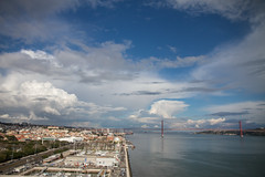 Lisbon, Portugal (Nadialeesi) Tags: city trip travel light sea sky urban sun sunlight color portugal water colors beauty clouds canon river eos freedom march europe shadows view lisbon capital naturallight wanderlust birdview 2016 urbanbeauty travelphotography eos7d canoneos7d