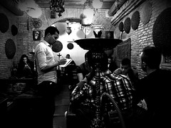 A place to smoke shisha (DanieleS.) Tags: street people white black rome roma photo strada shisha smoke smoking fotografia bianco nero hookah 2016 sciam narghil photografi