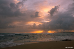 Distant Rays and Surf (Mark Griffith) Tags: ocean vacation sunrise hawaii springbreak kauai haena dawnpatrol sonyrx1m2