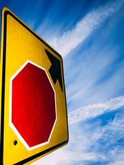 Street Sign Blue Sky v1 (c. Melon Images) Tags: street city sky urban color philadelphia sign clouds 28mm philly ricoh ricohgr strobe 18mm