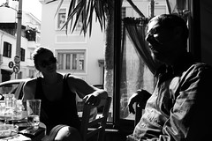 afternoon drink (Thanos_Silencio) Tags: people blackandwhite monochrome afternoon drink sunny dslr shilouettes canon700d dslrphotograpy