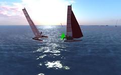 Nacra @NYC - rounding the mark and raising gen! (vivipezz) Tags: nyc sailing sl nantucket secondlife nacra17