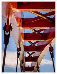 On a Red Bridge (amanessinger) Tags: bridge river austria krnten carinthia villach drau manessingercom