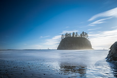 Second Beach - La Push, WA ([nosamk] KMason photography) Tags: ocean longexposure beach water clouds washington rocks waves pacificocean forks lapush seastacks