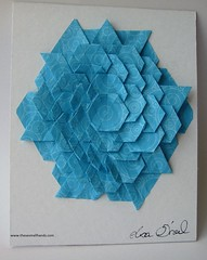 13076914_443608939143093_6329694061426172164_n (thesesmallhands) Tags: sculpture paper paperart origami homemade tessellation paperfolding