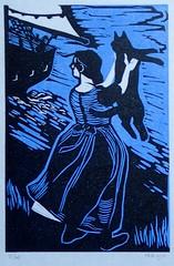 The Sailor's Wife (I Flickr 4 JOY) Tags: blackcat blackcats reliefprinting thesailorswife fathomsfathoms aprilprint2016