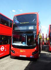 GAL MHV6 - BU16OYO - FRONT - BV BELVEDERE GARAGE - THUR 28TH APR 2016 (Bexleybus) Tags: new bus london buses ahead volvo garage go egyptian belvedere bv etb mcv goahead evoseti mhv6 bu16oyo