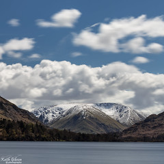 Ullswater (wiganworryer) Tags: park uk blue winter england sky lake snow mountains cold west nature water clouds canon lens landscape photography is photo spring natural image zoom district north may picture keith full hills national ii 200 frame april l series gibson 70 f28 6d ullswater 2016 wiganworryer