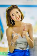 DSC04256 (inkid) Tags: portrait people girl smile lady female thailand prime lights model women pretty dof bokeh f14 85mm sigma indoor thai ambient ptt thaigirl hsm motorexpo2015
