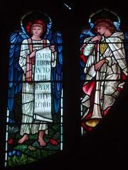 Angels, Brampton (Aidan McRae Thomson) Tags: church window stainedglass cumbria brampton preraphaelite burnejones