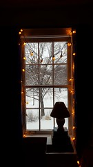 Guestroom Window (Mamluke) Tags: schnee winter light white snow cold tree blanco home window lamp silhouette garden ventana lights view fenster hiver nieve sneeuw panes finestra neve vista invierno neige fairylights kalt inverno fro wit fentre bianco blanc freddo froid venster weis mamluke koude