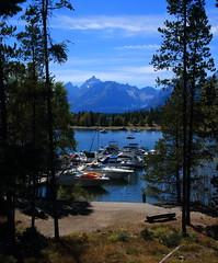 Grand Tetons from Jackson Lake Marina - Grand Tetons Natinal Park, Wyoming (danjdavis) Tags: lake mountains marina boats nationalpark rockymountains wyoming grandtetons grandtetonnationalpark jacksonlake