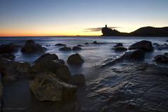 Sunset El Xarco (II) ( alfanhu) Tags: sunset seascape sol nature colors de landscape january enero puestadesol posta charco villajoyosa gener lavilajoiosa capvespre xarco