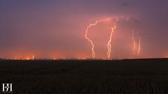 Septuple Indcis (NeoNature) Tags: sky cloud storm france nature field weather canon landscape ciel normandie lightning convection nuage temps paysage normandy calvados orage champ meteorology mtorologie stormscape foudre impactes ramifis keraunique