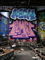 Kech / Lemon (Alex Ellison) Tags: urban abandoned graffiti lemon factory boobs warehouse graff derelict printers urbex northlondon htb kech