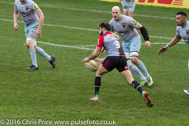 Quins 23 Northampton 27 Aviva Premiership 6th Feb 2016