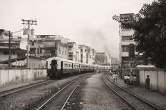 Thailand - Bangkok Hua Lamphong - The revival of Thai steam (8) (railasia) Tags: monochrome thailand bangkok eighties infra srt hualamphong metergauge heritagerun steamlocotrain