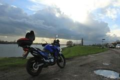 IMG_9309 (Mr. Blue-Sky25) Tags: road sunset sun holland nature water netherlands grass clouds zonsondergang utrecht toren nederland natuur wolken motorbike motorcycle gras motor dijk zon dike weg lek ijsselstein gerbrandy motorfiets