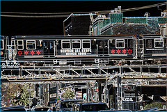 The 'L' Over North Halsted Street Chicago (IL) September 2015 (Ron Cogswell) Tags: subway thel chicagoil theelevated thelovernorthhalstedstreetchicagoil thechicagoilelevatedthe