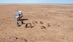 Taking a low shot of stonehenge (spelio) Tags: trip with desert south australia tm outback sa 2009
