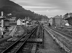 Porthmadog railway (Happy snappy nature) Tags: bw wales landscape railway porthmadog explored