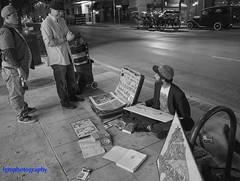 Night Art (Halcon122) Tags: street bw night austin artist texas joking 6thstreet olympusem5markii