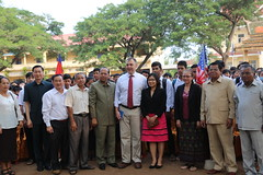 Ambassador's Wife Visits Hometown (USEmbassyPhnomPenh) Tags: trip family school history childhood america rouge us cambodia khmer hometown visit embassy teacher american wife ambassador relative province regime pursat krakor