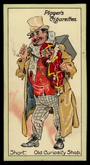 Cigarette Card - Short (cigcardpix) Tags: vintage advertising ephemera caricature dickens cigarettecards