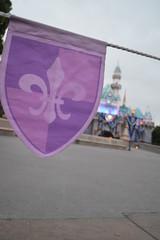 Banner (miawhite9) Tags: sleeping castle beauty purple disneyland disney fleurdelis banners depth