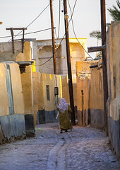 woman walking in the street, Qeshm Island, Laft, Iran (Eric Lafforgue) Tags: street old people man men history vertical architecture outdoors photography ancient asia day exterior iran islam middleeast persia streetscene architectural historical rearview oldcity adultsonly oneperson middleeastern persiangulf narrowstreet qeshmisland menonly laft hormozgan  onemanonly  1people  iro straitofhormuz  unrecognizableperson colourpicture  iran034i8196